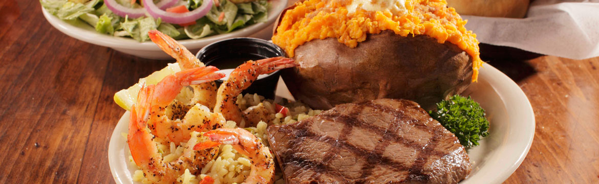 Sirloin and Shrimp